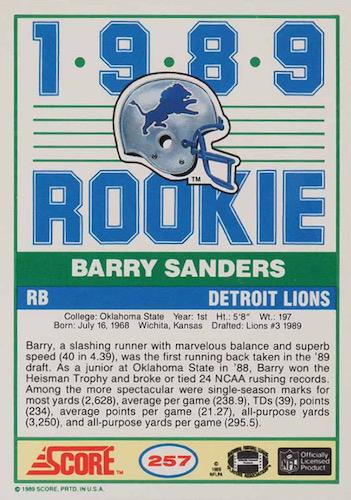 1989 Score Football Cards 4