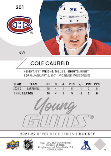 2021-22 Upper Deck Series 1 Hockey Cards - Early images 3