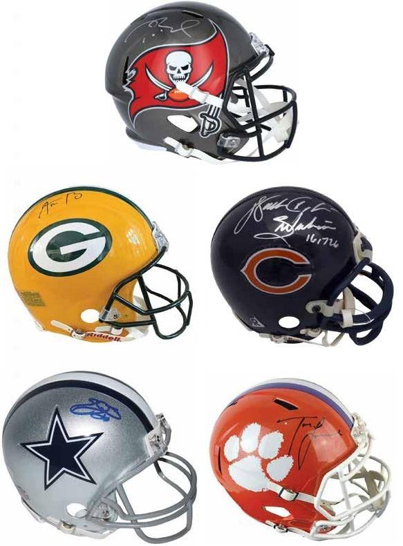 2021 Leaf Autographed Football Mini-Helmet Edition 1