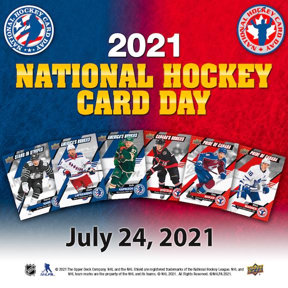 2021 Upper Deck National Hockey Card Day Trading Cards - Checklist Added 1