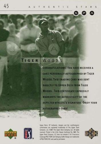 2001 SP Authentic Golf Cards 5