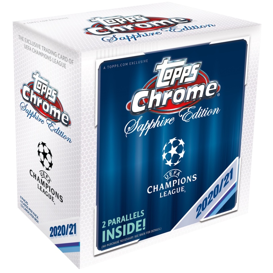 2020-21 Topps Chrome Sapphire Edition UEFA Champions League Soccer Cards 4