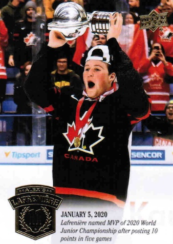 2020-21 Upper Deck Alexis Lafrenière Collection Hockey Cards 4