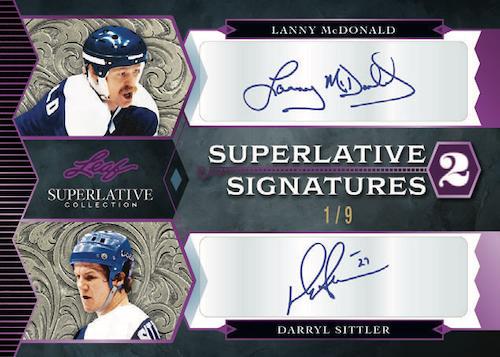 2021 Leaf Superlative Collection Hockey Cards 1