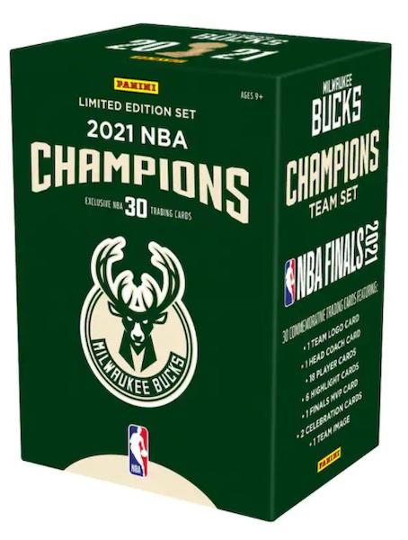 2021 Panini Milwaukee Bucks NBA Champions Team Set Basketball Cards - Checklist Added 1