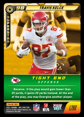2021 Panini NFL Five Trading Card Game TCG Football Cards - Checklist Added 4