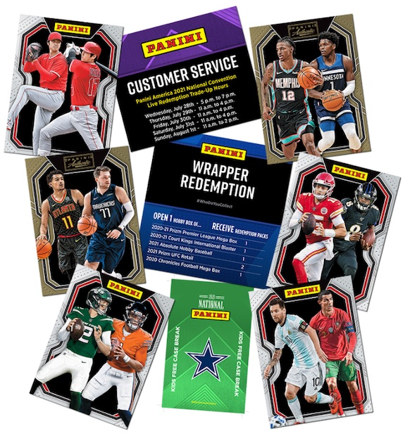 2021 Panini National Convention Wrapper Redemption NSCC Silver Packs Cards 1