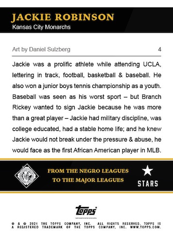 2021 Topps X Nashville Stars Negro Leagues Baseball Cards 2