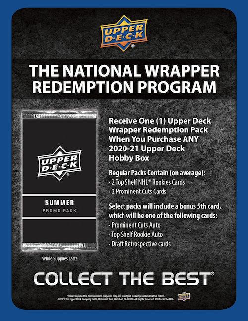2021 Upper Deck National Convention Wrapper Redemption Summer Promo Pack Multi-Sport Cards - Checklist Added 1