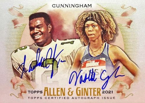 2021 Topps Allen & Ginter Non-Baseball Autographs Guide 1