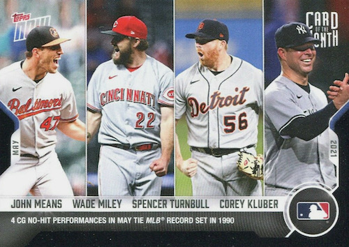 2021 Topps Now Card of the Month Baseball Cards 4