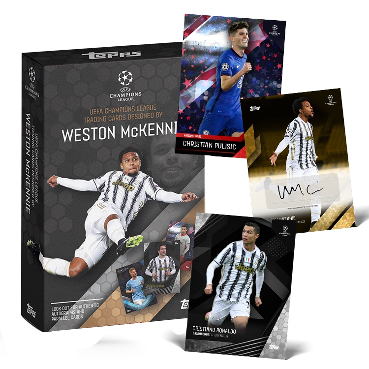 2021 Topps Weston McKennie Curated UEFA Champions League Soccer Cards 1