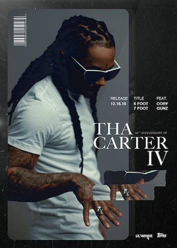 2021 Topps X Lil Wayne Tha Carter IV 10th Anniversary Cards 1