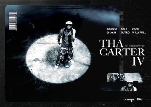 2021 Topps X Lil Wayne Tha Carter IV 10th Anniversary Cards 2