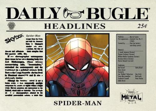 2021 Skybox Marvel Metal Universe Spider-Man Trading Cards 5