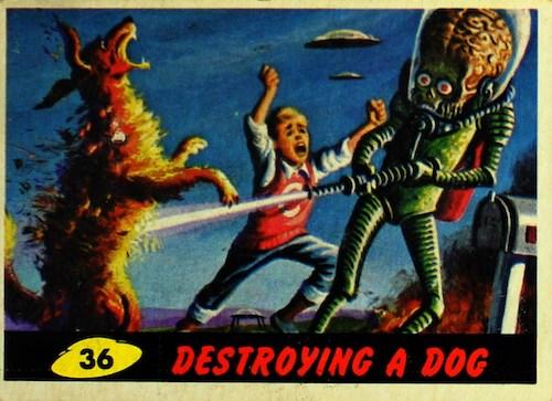 1962 Topps Mars Attacks Trading Cards 1