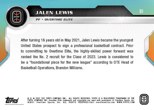 2021-22 Topps Now Overtime Elite Basketball Cards Debut Checklist 2