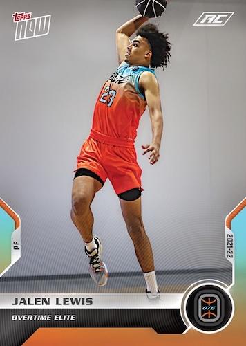 2021-22 Topps Now Overtime Elite Basketball Cards Debut Checklist 1