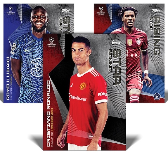 2021-22 Topps UEFA Champions League Summer Signings Soccer Cards Checklist 1