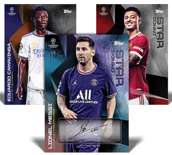 2021-22 Topps UEFA Champions League Summer Signings Soccer Cards Checklist 2