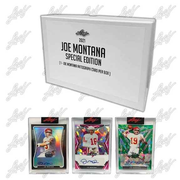 2021 Leaf Joe Montana Special Edition Football Cards 3