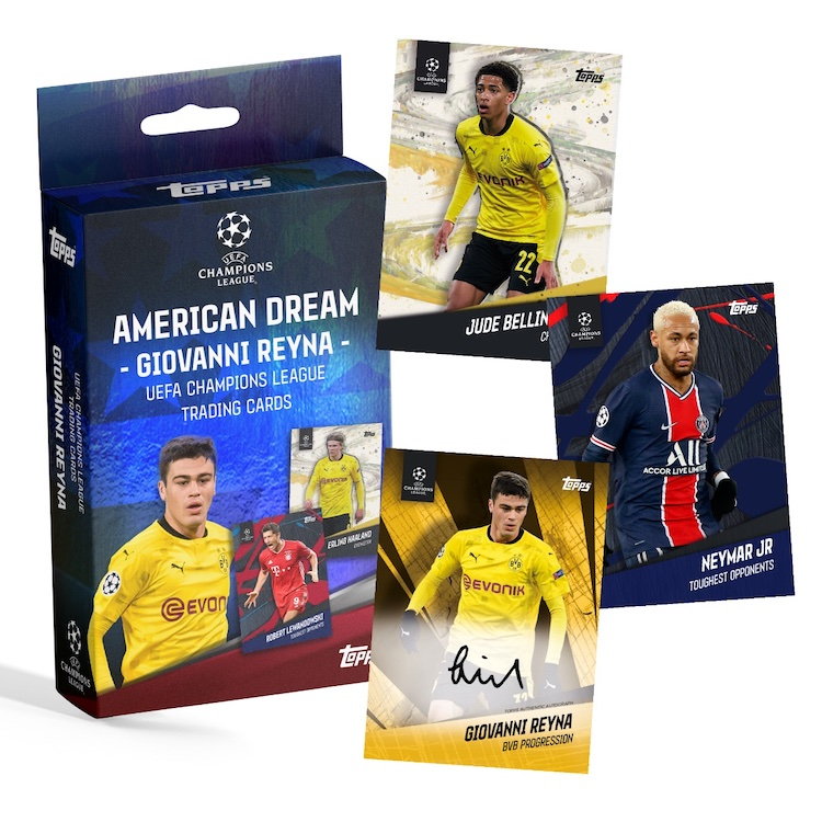 2021 Topps Giovanni Reyna American Dream Curated UEFA Champions League Soccer Cards 1