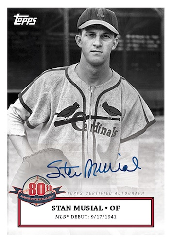 2021 Topps Stan Musial 80th Anniversary Baseball Cards 4