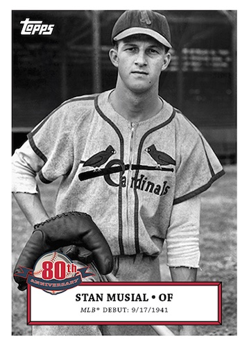 2021 Topps Stan Musial 80th Anniversary Baseball Cards 1