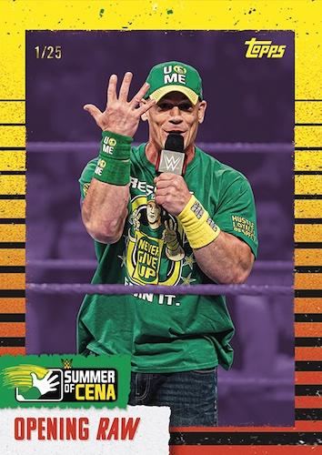 2021 Topps WWE Summer of Cena Wrestling Cards 2